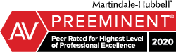Peer Rated for Highest Level of Professional Excellence 2020